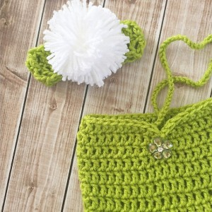 Tinkerbell Inspired Costume/Crochet Tinkerbell Dress/Tinkerbell Hat Wig/Peter Pan Inspired Photo Prop- MADE TO ORDER