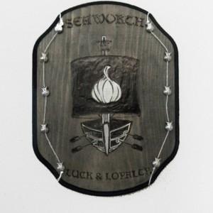 House Seaworth sigil plaque.  Unique and handmade.