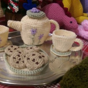 Crochet Tea Set for Two FREE SHIPPING
