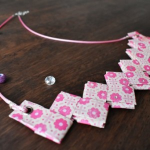 Origami Necklace Swarovski Crystal