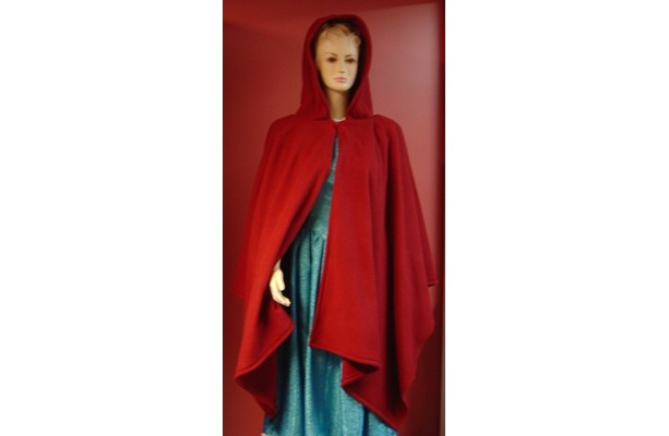 Elegant Red Fleece Cape, Christmas Capes