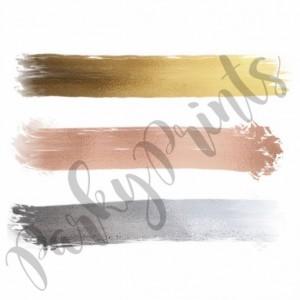 Mixed Metals Swatch Print - 8x10