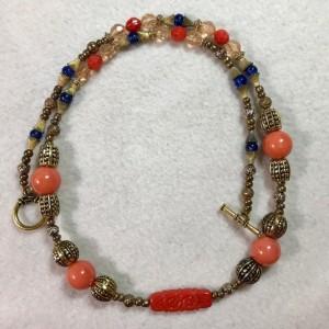 """Desert Dream handmade beaded necklace 25"""" long"""