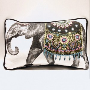 Elephant T-shirt pillow
