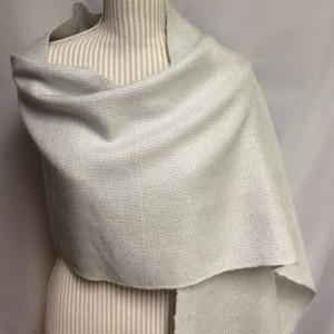 silver grey: handwoven wool blend wrap