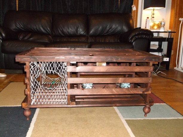 Lobster Trap Coffee Table WINE RACK Made in Maine aftcra