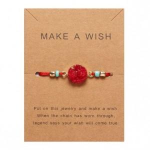 Make a Wish, Wish Bracelet, Red Charm Bracelet, Lucky Red String Bracelet ,Stocking Stuffer for Friends