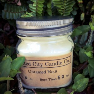 Untamed No. 8 --No surprise honeysuckle is banned in 3 states. These flowers don't quit! 100% soy candle. United City Candle Co.Made in USA