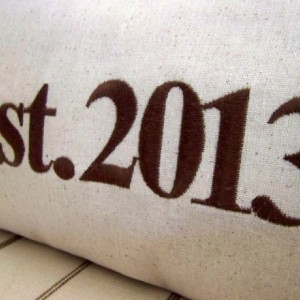 Custom Established Pillow Cover - size 12x24