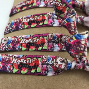 Harley Quinn Hair Ties, Birthday Favors 24 party favors