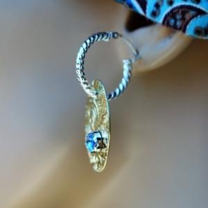 CLEARANCE PRICED! FANCY Blue Spinel HOOPLET EARRINGS