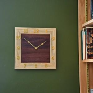Unique Dual Wood Wall Clock