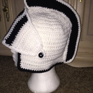 Knight Hat / knight Helmet / white and black