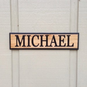 Custom Personalized Handmade Routed Cedar Name Sign