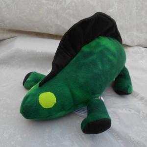 Forest Green  Dimetrodon Dinosaur with Black Ridge