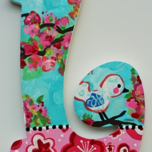 Cherry Blossom Bird Wall Letters -- Price Per Letter