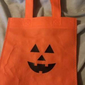 Pumpkin treat bags