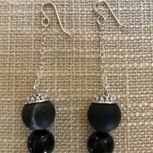 925 Sterling Sliver, Agate Dangle & Drop Earrings