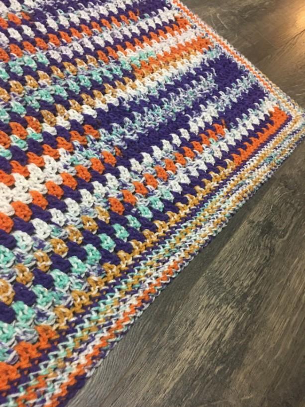 "Handmade multicolored ""wildflower"" crochet childs blanket"