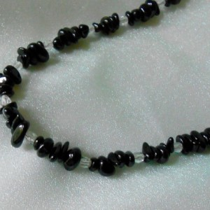 Necklace-Crystal and Black Tourmaline
