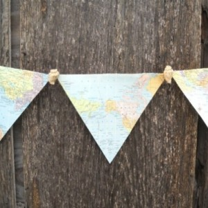 Nautical Map Bunting Party Decoration