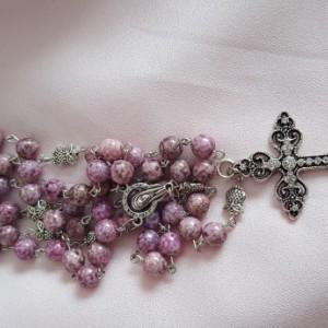 Rosary Beads - Lavender Owl