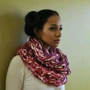 Multi Pink Combo / MultiColor / Arm Knit / Handmade / Infinity / Hood  /  Loop /  Scarf
