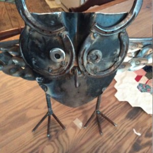 Repurposed Metal owl