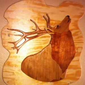 Intarsia Elk