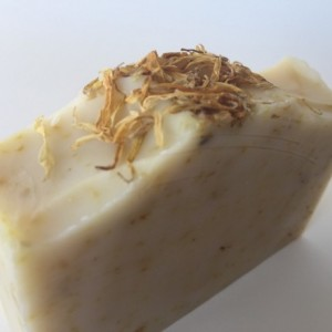 Calendula handcrafted soap coconut milk soap calendula extract, unscented soap vegan soap gentle cleansing soap fragrance free