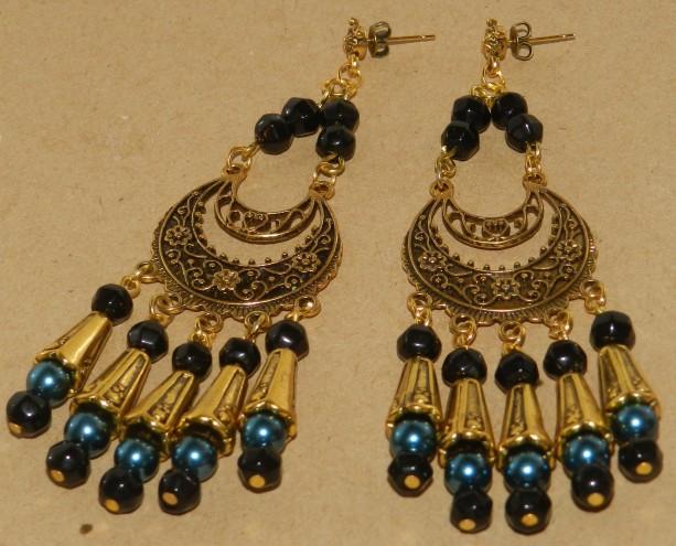 Antique Gold Art Nouveau Earrings A03431