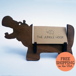 Hippo business card holder for desk