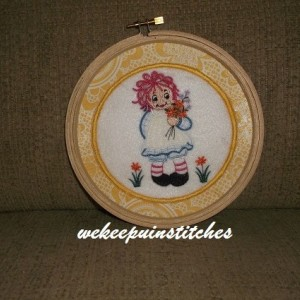 Machine embroidery ragdoll