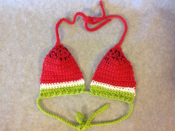 Watermelon Bikini Crop Top - Small