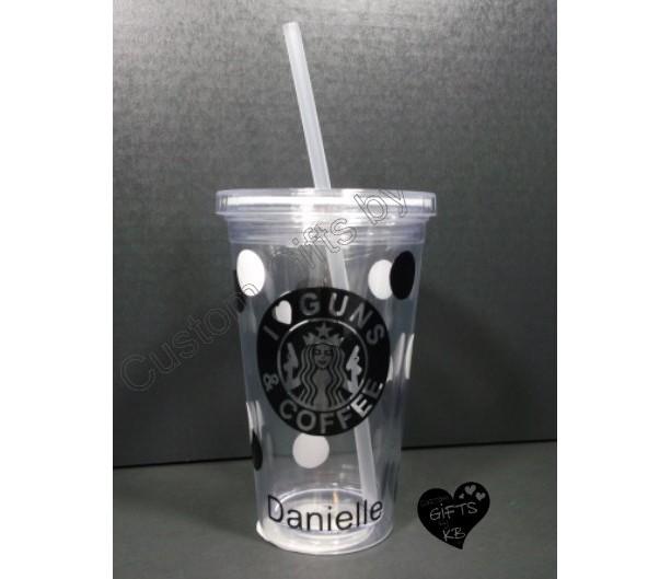 Starbucks Inspired I Love Guns Amp Coffee Starbucks Tumbler