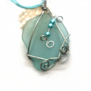 Aqua glass pendant