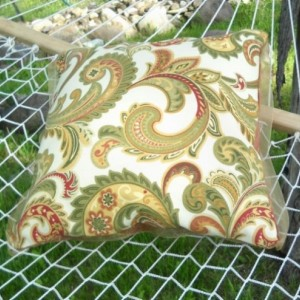 Paisley Reversible Decorative Throw Pillow, 16 x 16