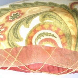 Paisley Reversible Decorative Throw Pillow, 16 x 16