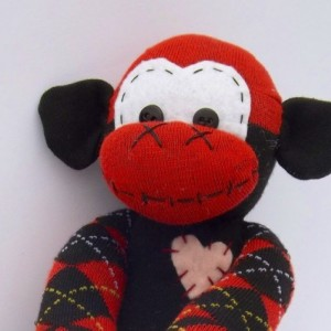 Sock monkey : Roxy ~ The original handmade plush animal made by Chiki Monkeys