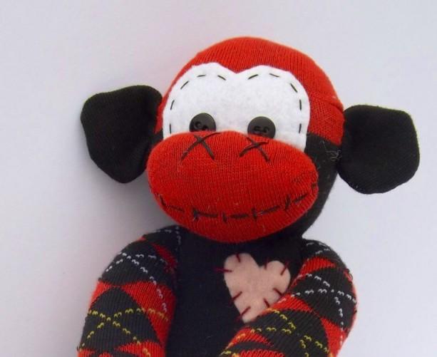 Sock monkey : Roxy ~ The original handmade plush animal made by Chiki Monkeys