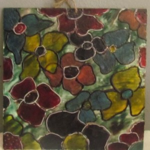 Flowers For You - Floral Encaustic Modern Wax Art Painting - Free Shipping - 12 x 12