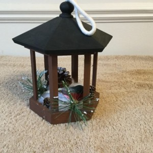Indoor winter gazebo  birdhouse  decoration