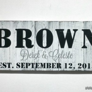 Large Family Established Sign | Last Name Established | Family Wood Sign | Hand Painted Wood Sign | Home Established Sign | Established Sign