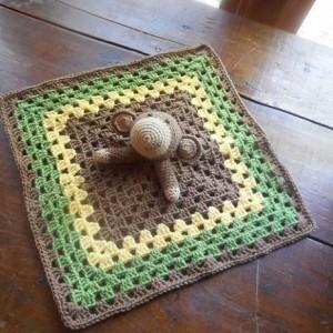 Marvin Monkey Crocheted Baby Lovey