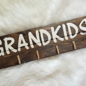 Wooden Sign~Grandkids Sign~Picture Display~Art Display~Hand Painted Wooden Grandkids Sign
