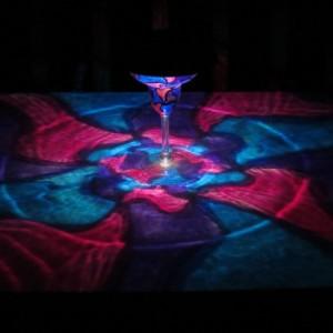 Hand Painted Solar Blue/Indigo/Violet Mosaic Luminary