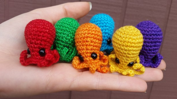pattern amigurumi mini octopus PDF english-Deutsch-dutch | 345x613