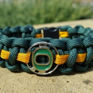 Oregon Ducks Paracord Bracelet NCCA Officially Licensed Charm
