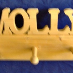 Personalized Shaker Peg Racks 18 inch to 48 inch. Free Shipping!