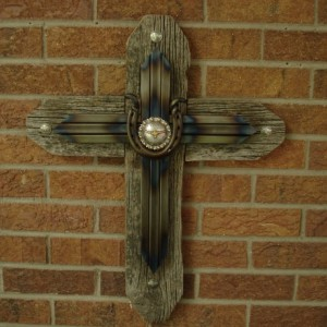 Mixed media cross